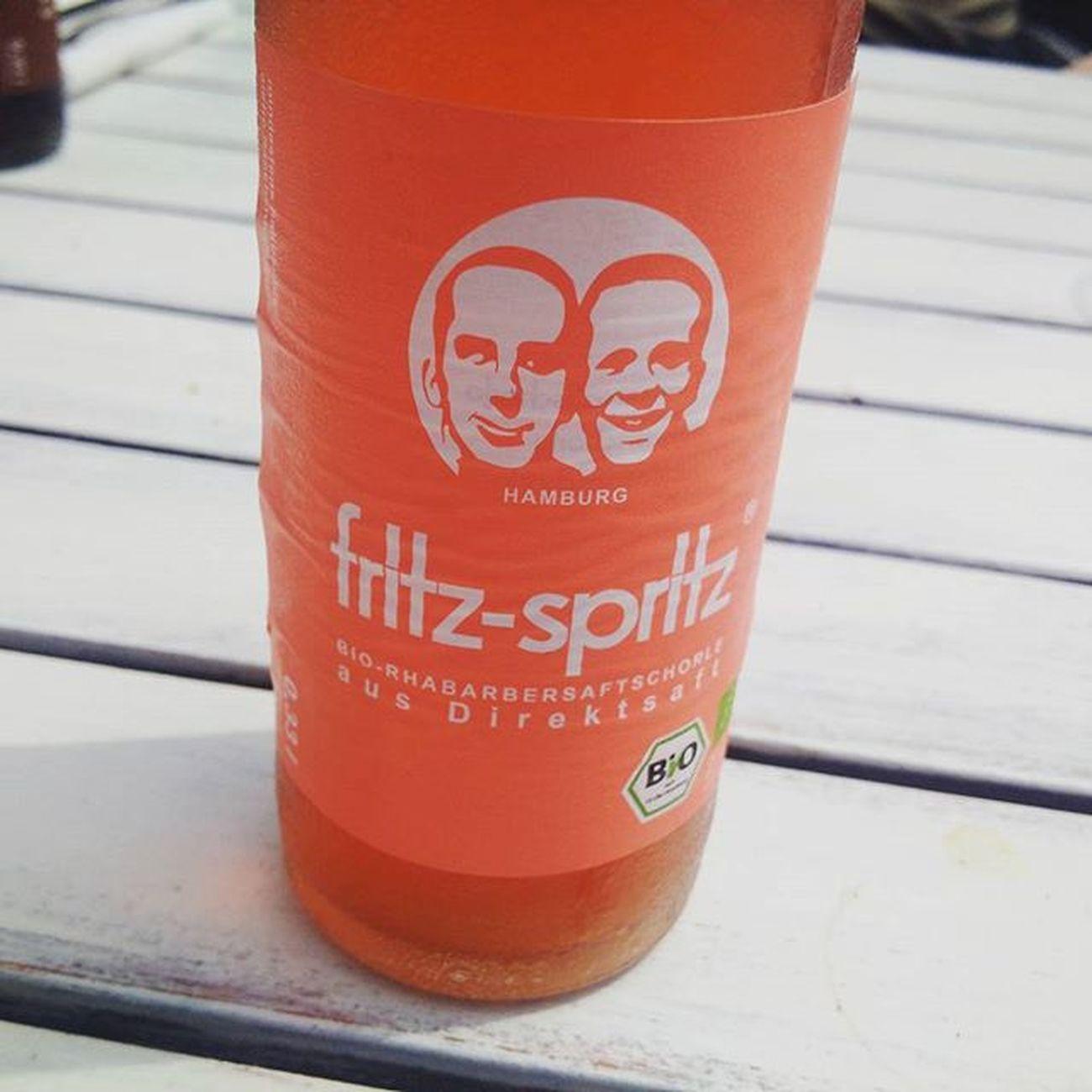 Irgendwas mit Bio. Fritz Fritzspritz Rhabarber Bio Drink Chilled