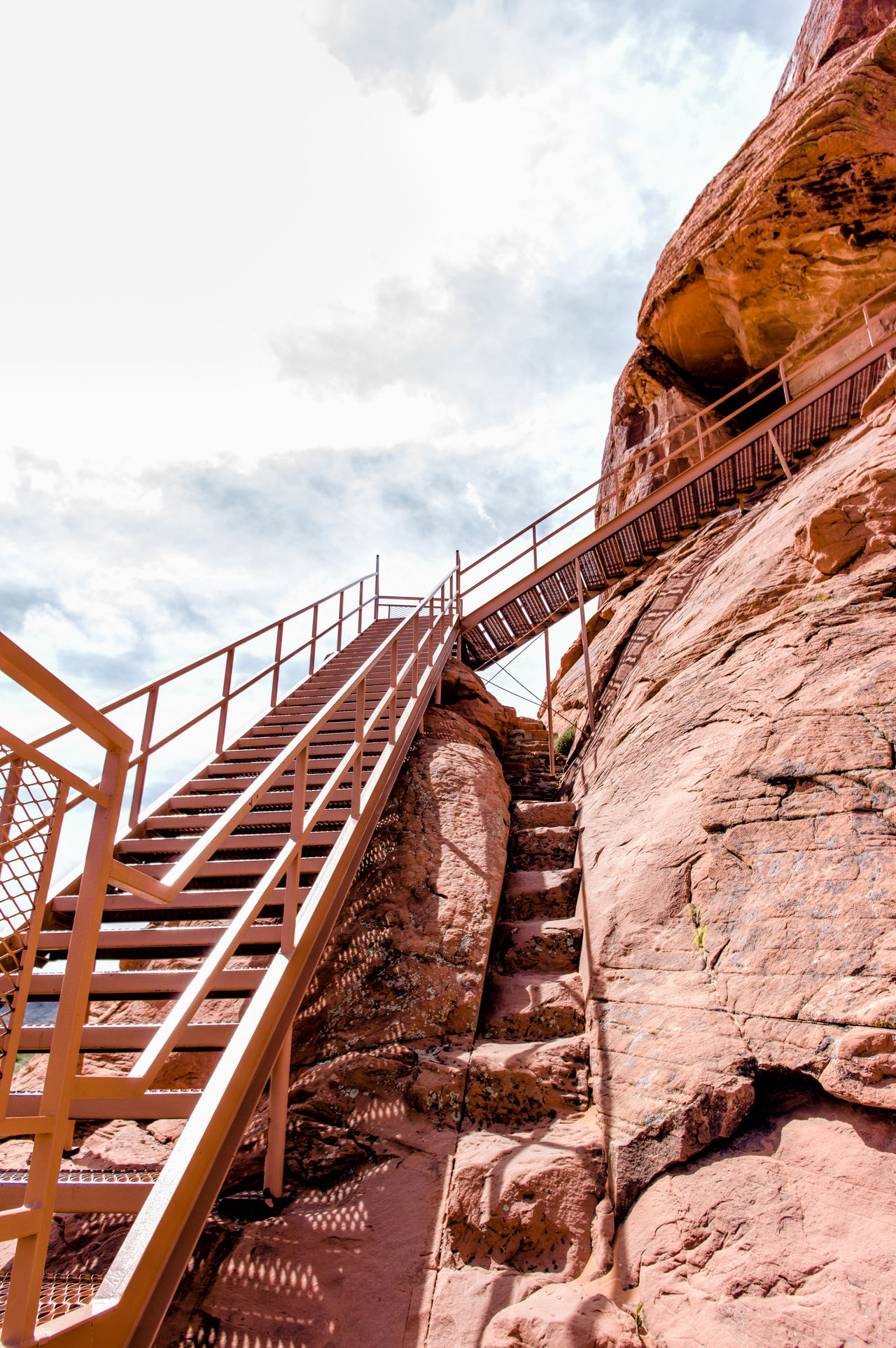 Architecture Built Structure Cloud - Sky Day Low Angle View No People Outdoors Sky Staircase Steps Steps And Staircases Travel Destinations