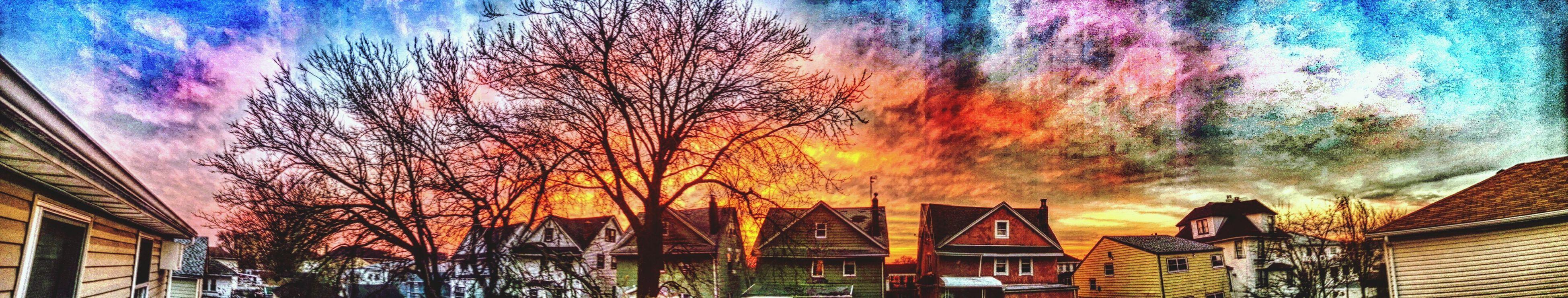 Panoramic Taking Photos Sunset Hanging Out