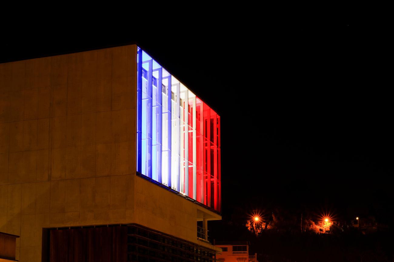 French Flag Nightphotography Night France