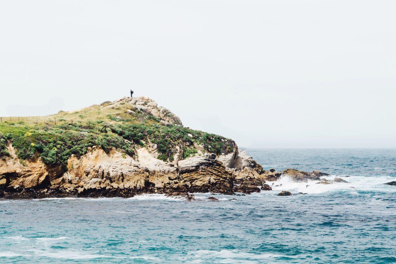 Rocky Coast By Sea