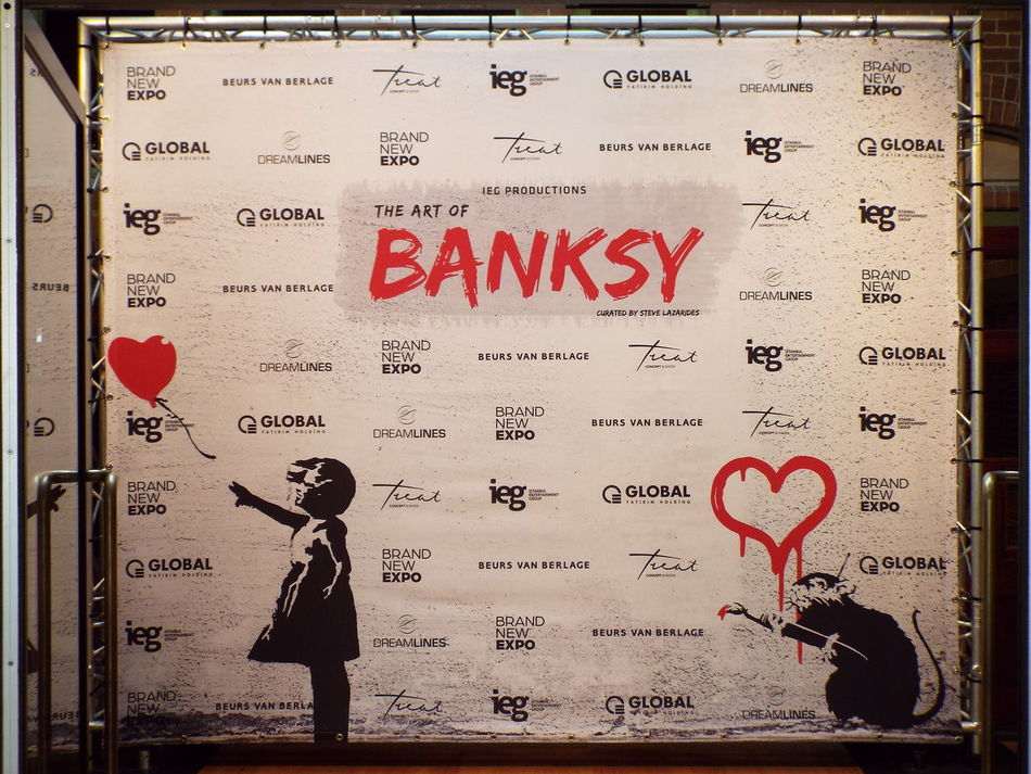 images captured at The Art Of Banksy exhibition at the Beurs van Berlage, Amsterdam, 2016 Amsterdam Banksy Beurs Van Berlage Exhibition Modern Art Museum Street Art Street Art/Graffiti Street Artist Streetart The Art Of Banksy