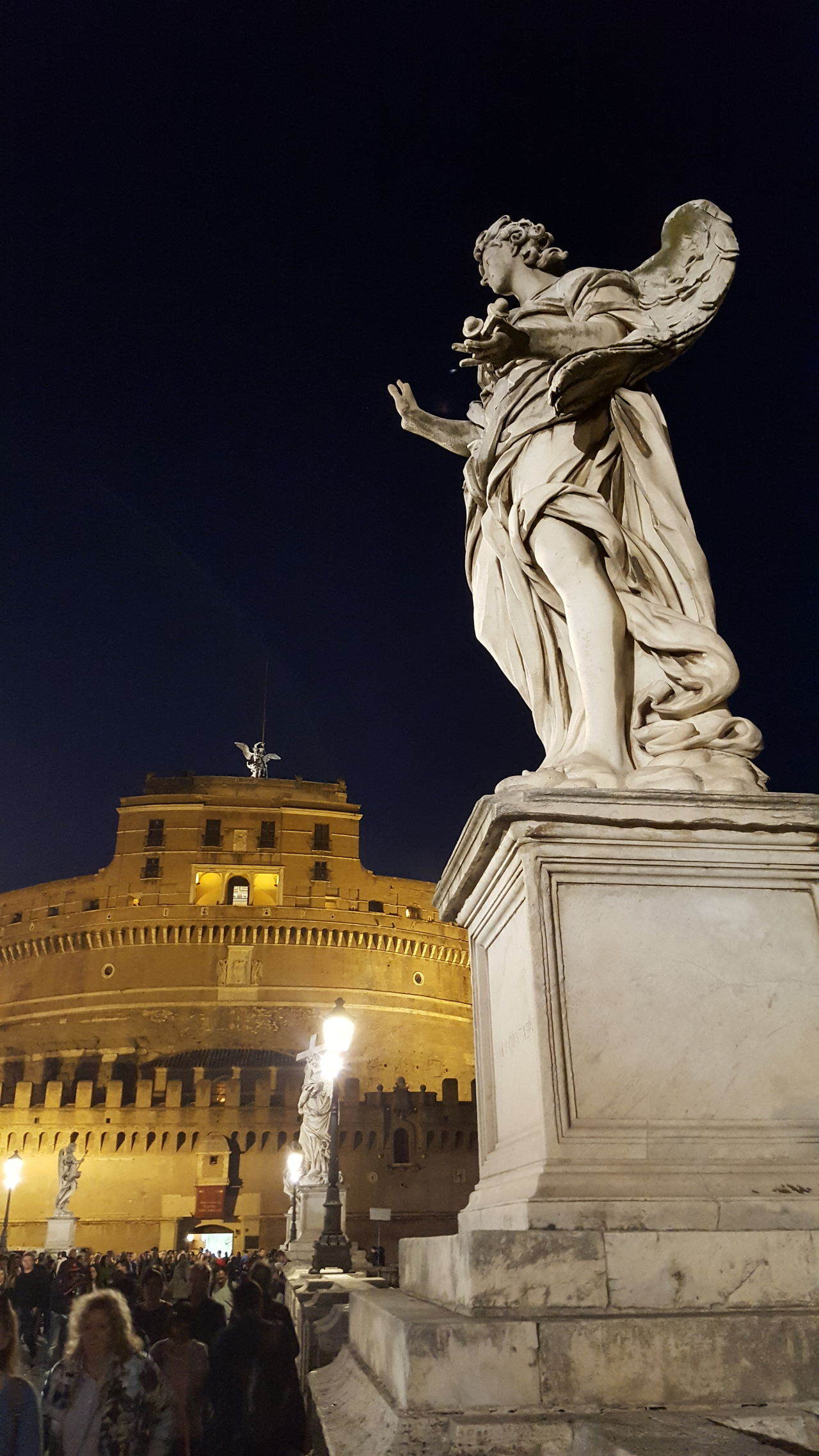 Architecture Illuminated Cityscape Rome By Night Rome, Italy Outdoors Travel Destinations Vaticano City Sky Night Castel Sant' Angelo CASTEL SANT'ANGELO ROME Statue Religion City History Architecture Sculpture