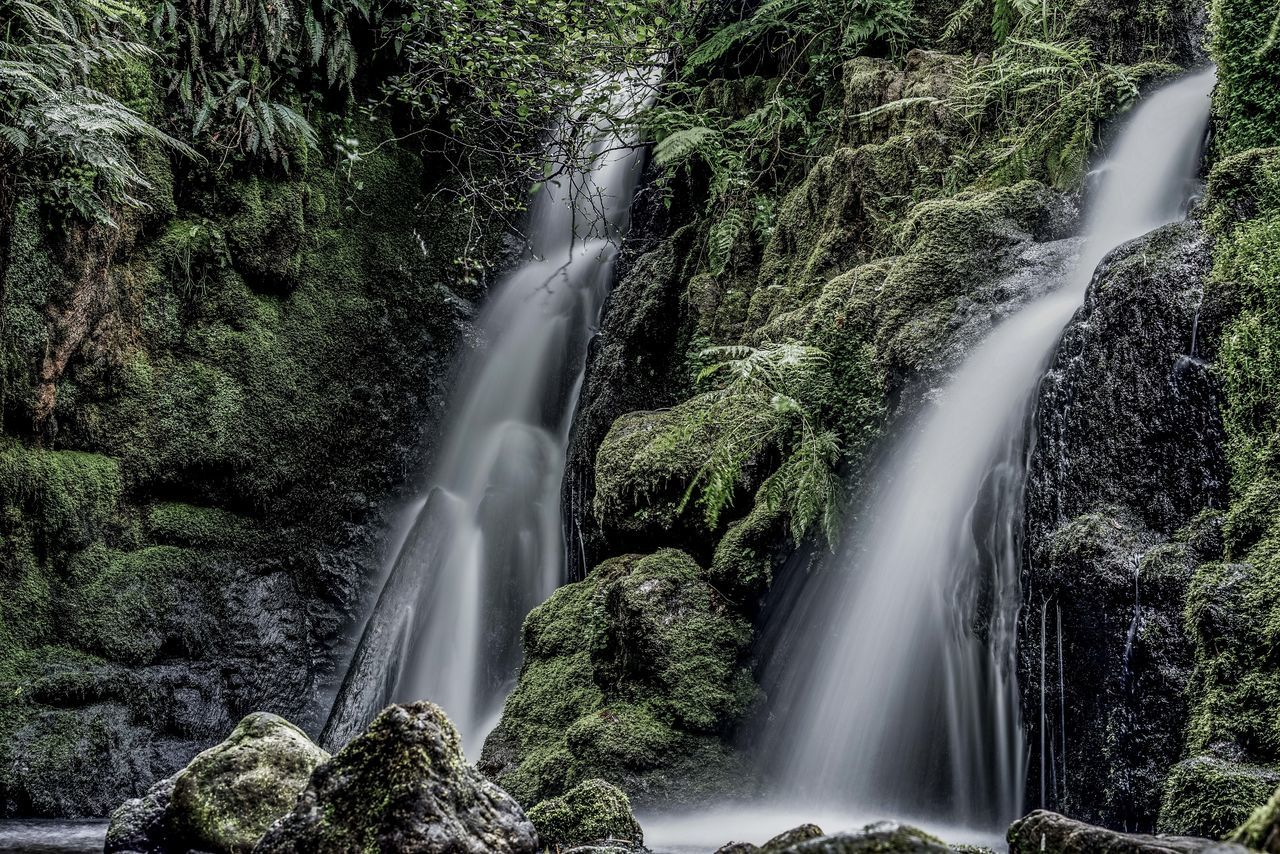 Motion Long Exposure Water Waterfall Spraying High Angle View Nature Beauty In Nature No People Blurred Motion Outdoors Day Tree Scenics Dartmoor