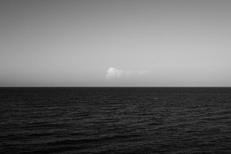 Black And White Blackandwhite Photography Calm Cloud Nature No People Outdoors Sea Seascape Silence Water