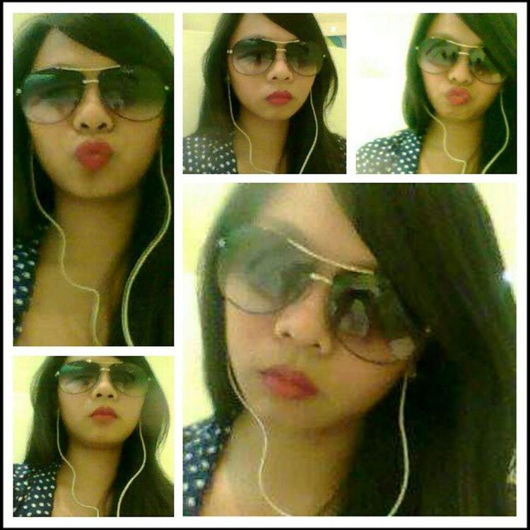 Old pic from my old fone... Selfportrait Vanitystrikes TheFaceshot Sunnies redlipss