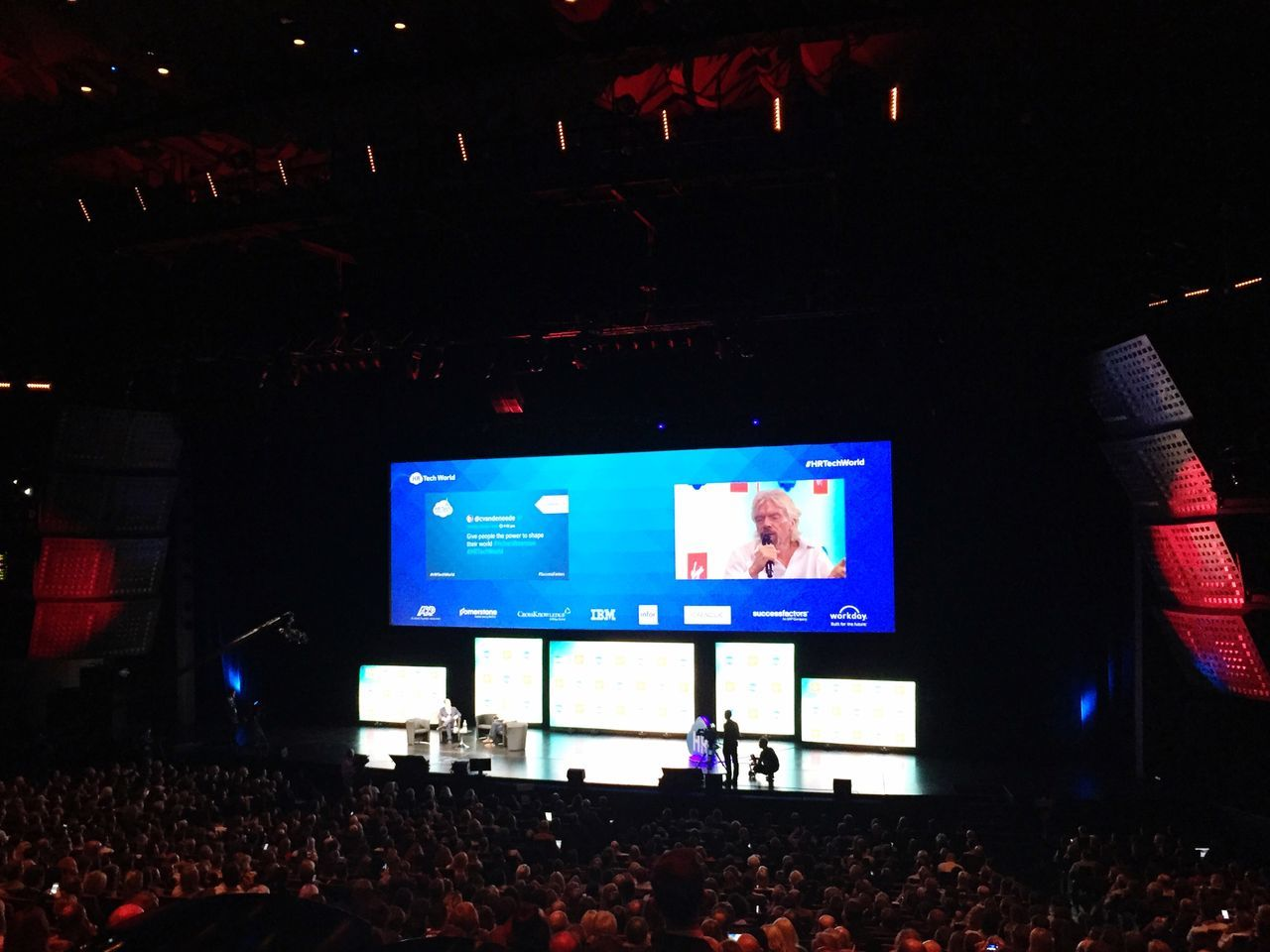 HR Tech World Congress 2015 in Paris, listening to the Amazing and Inspiring Richard Branson At A Conference