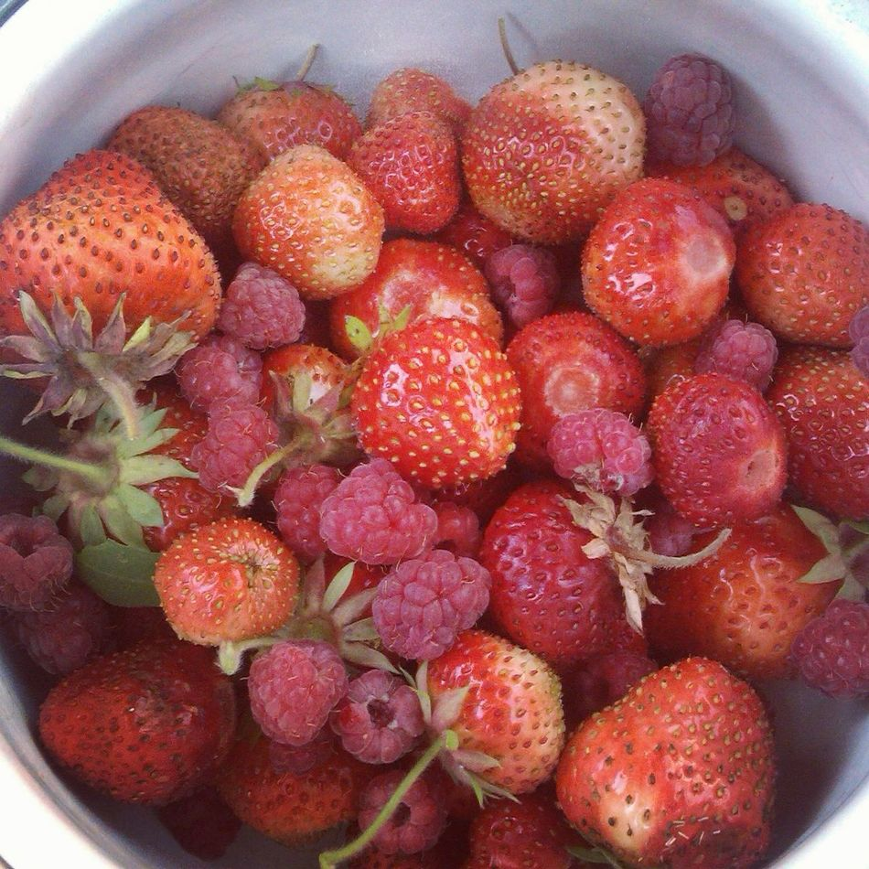 Berries Strawberry Raspberry Red
