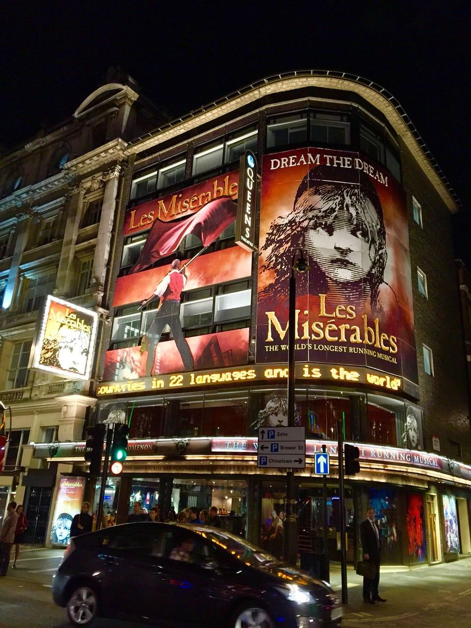 Theater Vacation2015 los miserables Night Photography musical Musical Iphone6plus LONDON❤ Nightphotography Noche Taking Photos
