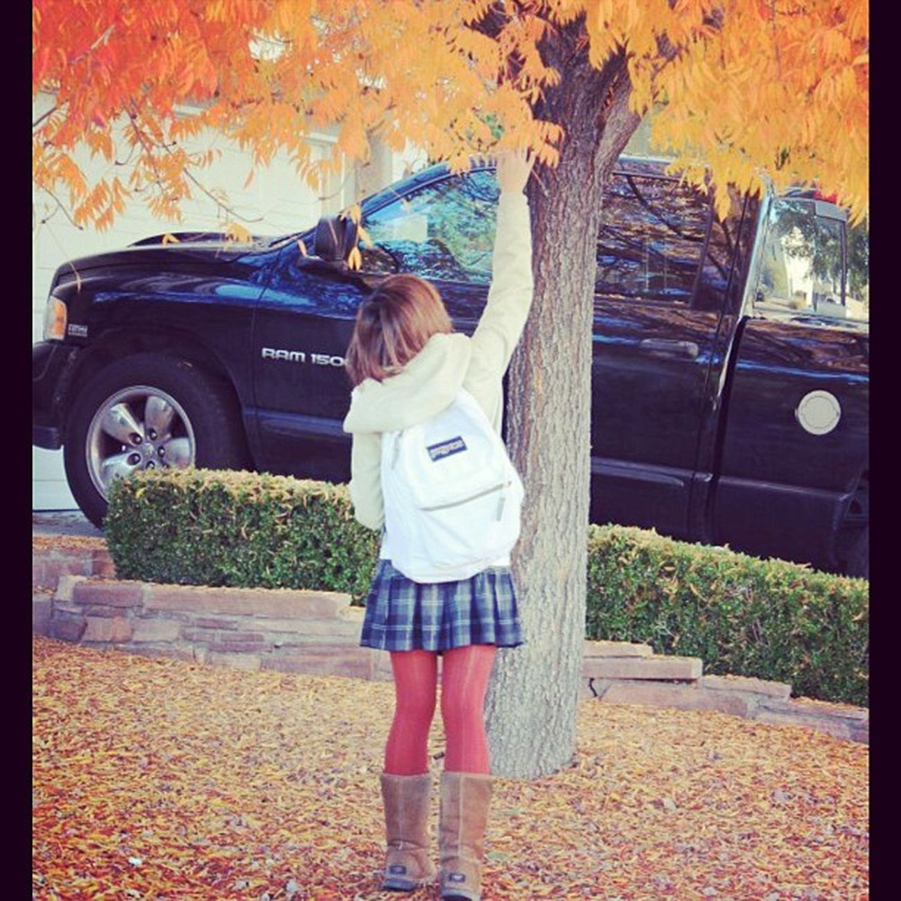 When I still had light brown hair. TBT  Fall Colors Shortaf K