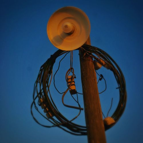 Street Light Electric Wire Blue Sky Evening Evening Sky