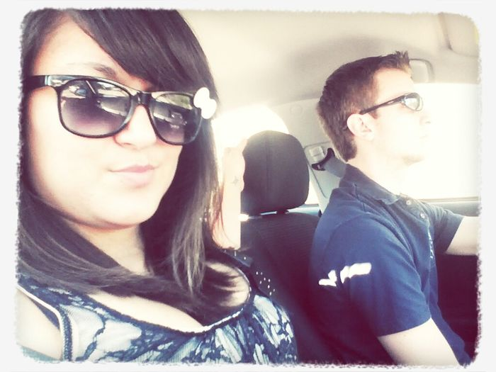 heading to build a bear and then our dinner date at longhorn steakhouse <3 I love him <3