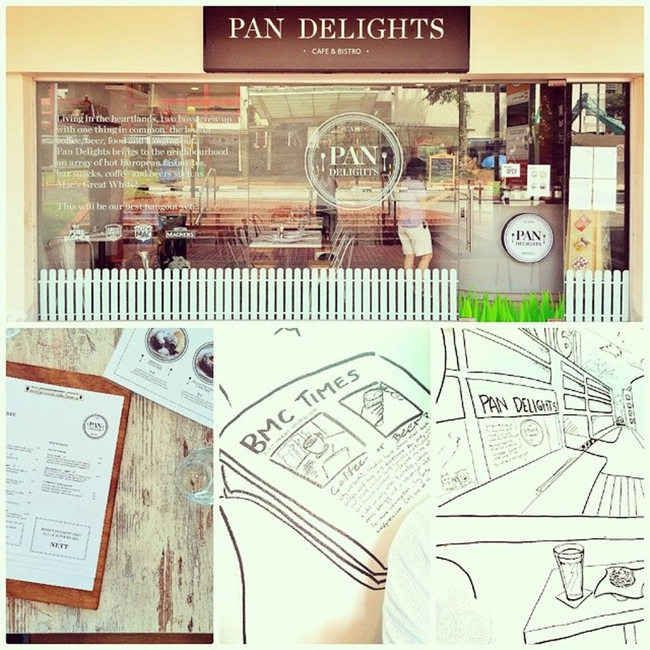 Lunching at Pan Delights. Small but pleasant bistro! Pandelightsbistro Burpple Bukitmerahcentral Hdbcafe cafesg
