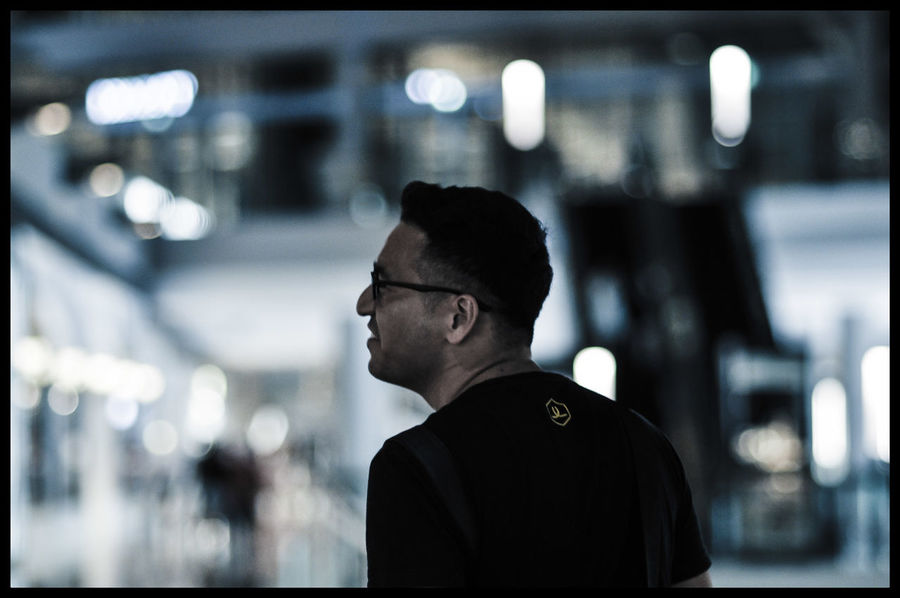 One Man Only Only Men One Person Adults Only Adult Contemplation Focus On Foreground Portrait Eyeglasses  Standing Indoors  Night People Men Humansofsingapore