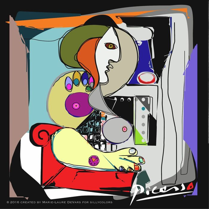Sillycolors Digital Art Digital Painting Pablo Picasso Pablo Picasso Style