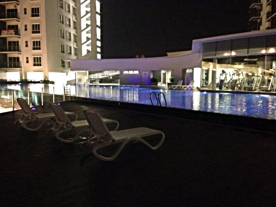 Night Photography Condo Swiming Pool Relaxing Streamzoofamily