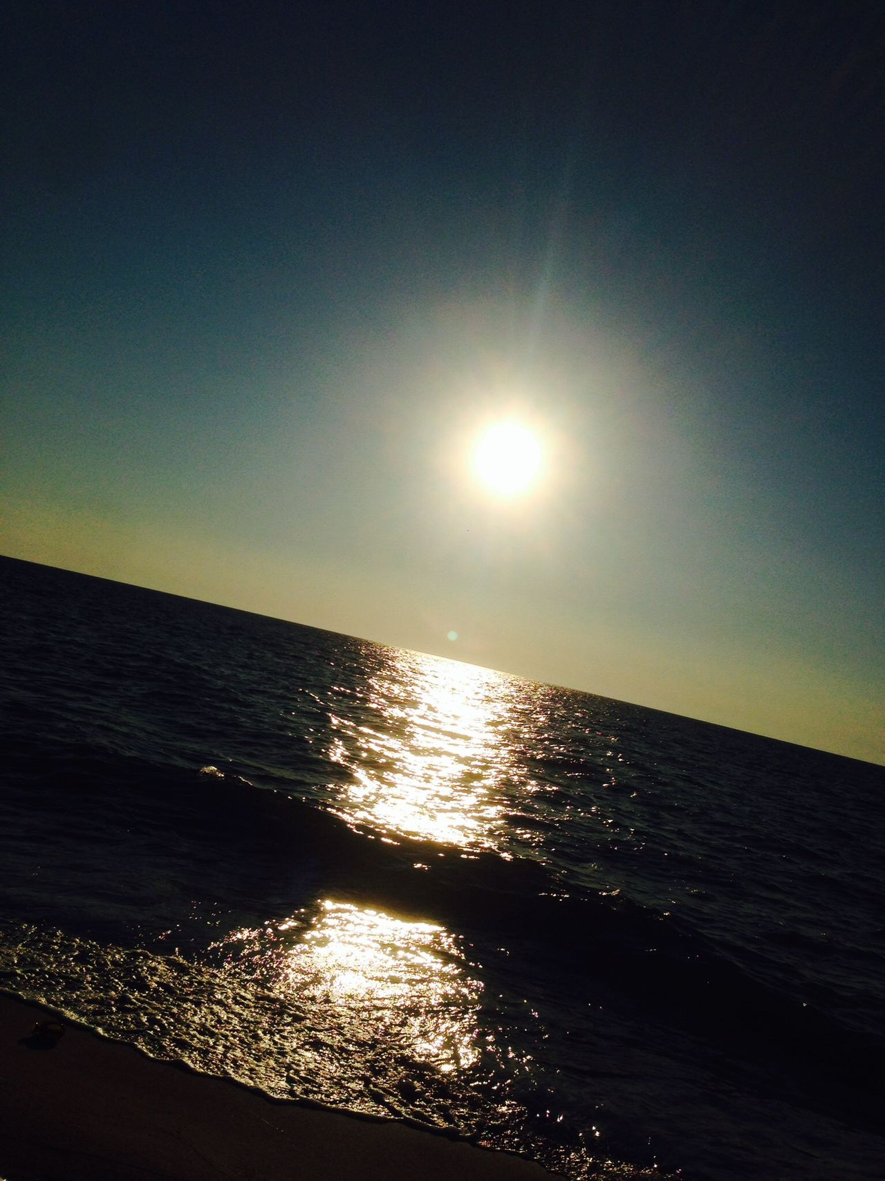 Sun set Benghazi Ganfoda Sea Libya