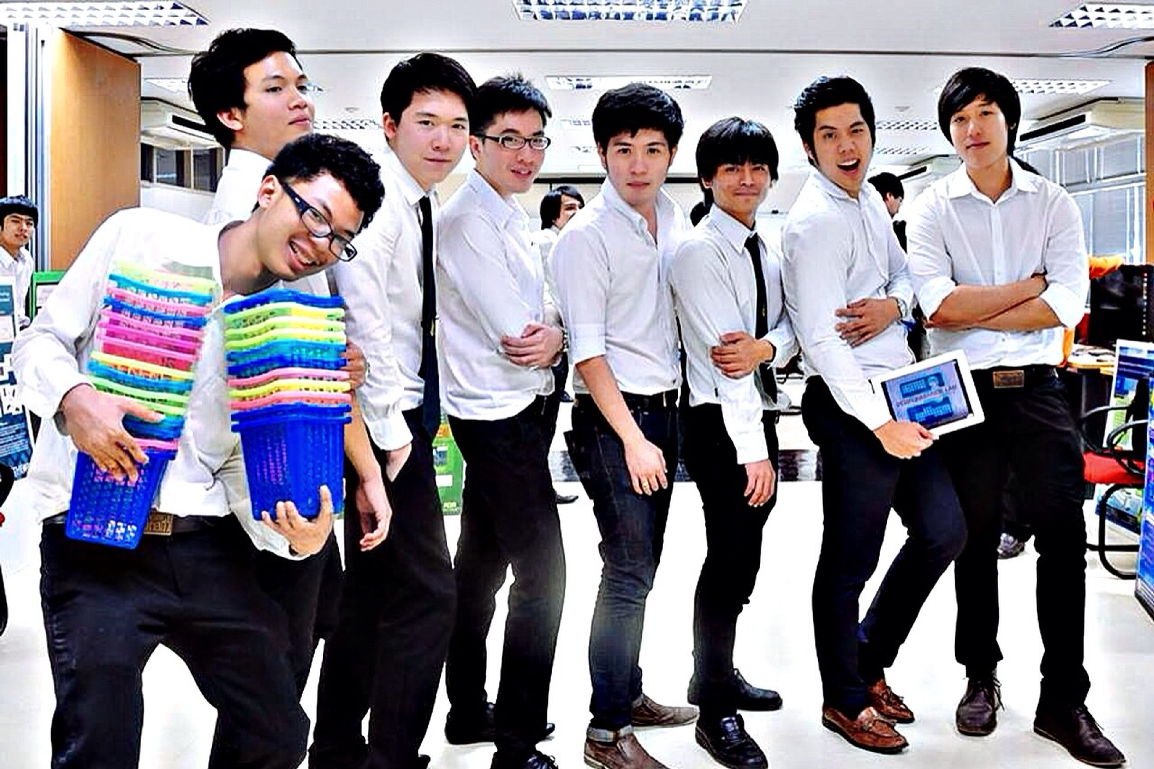 togetherness, lifestyles, bonding, leisure activity, friendship, casual clothing, young men, love, standing, men, front view, person, happiness, young adult, fun, family, side by side