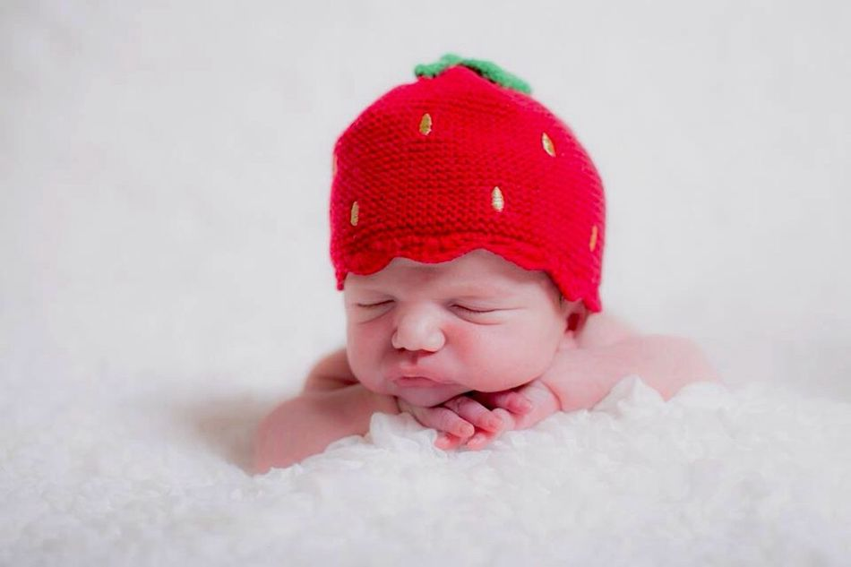 Fresh 3 Baby Cute Newborn Incense Hat Sleeping Having A Nap Gorgeous Child