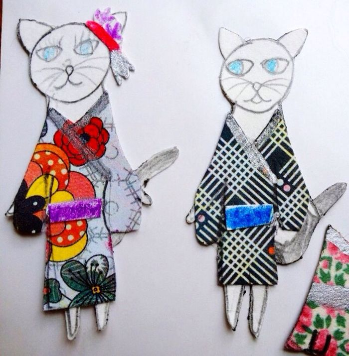 KimonoStyle Dressed Cats Picture Of Cat Kids Crafts
