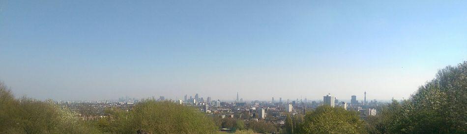 No People Clear Sky Skyline London Hello Spring Blue Sky Hampstead Heath