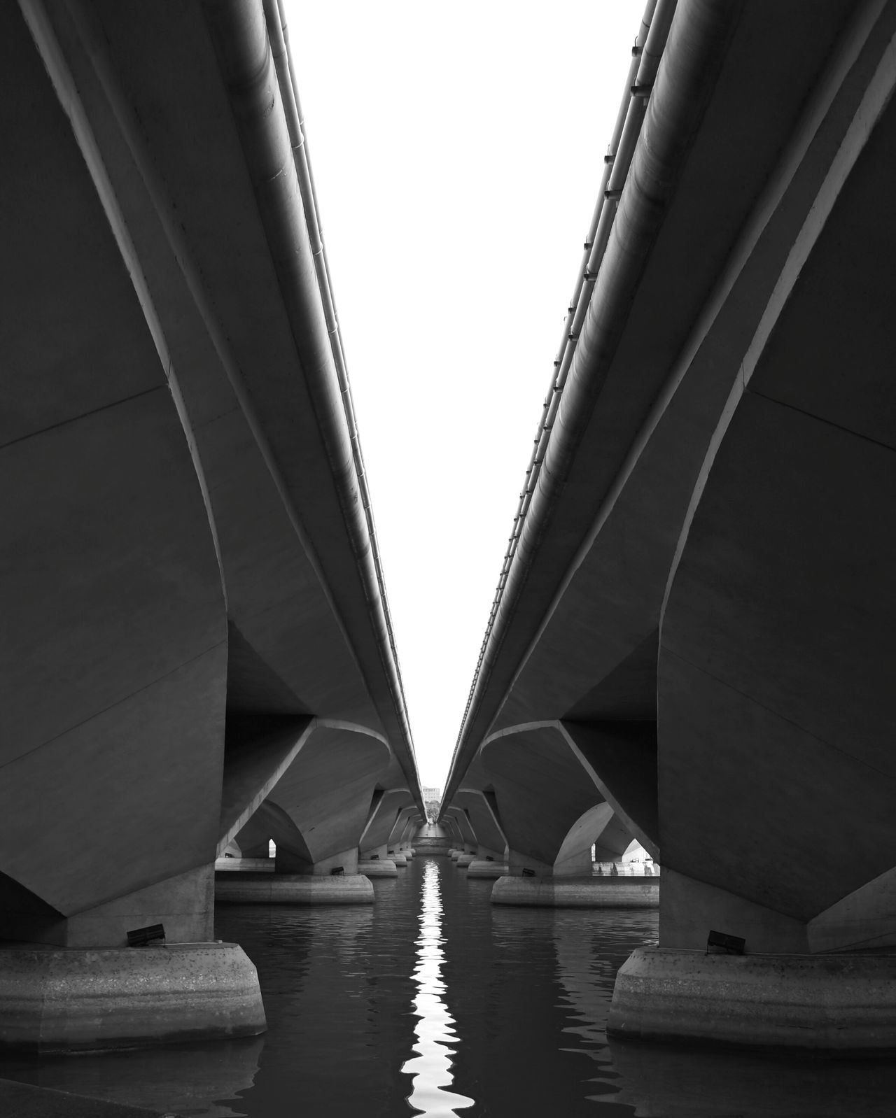 Bridge ViewfrOmbeLOw Urban Geometry Parallel Lines Learn & Shoot: Leading Lines Beauty From The Under Water Reflections Monochrome Photography Reflection_collection Reflection Water View From Below Urban Urbanexploration TakeoverContrast Adapted To The City