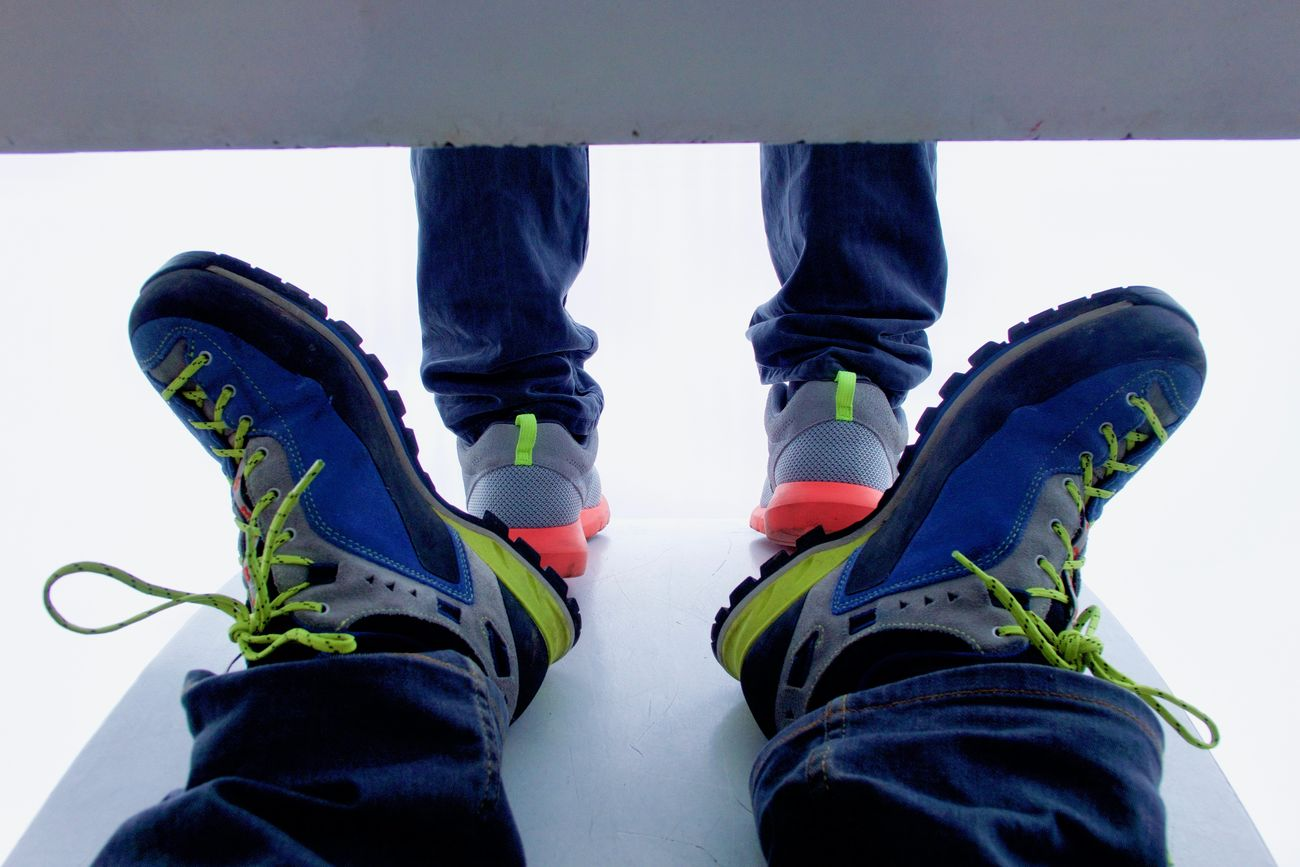 Close-up Fluo  Human Body Part Human Leg Jeans Personal Perspective Relaxing Time Shoe Walking Around The City