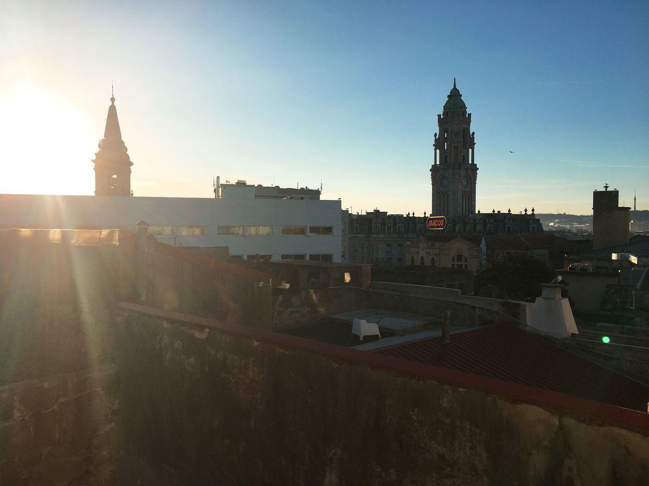 Sky Sunlight Morning Sky Porto Portugal From The Window Morning