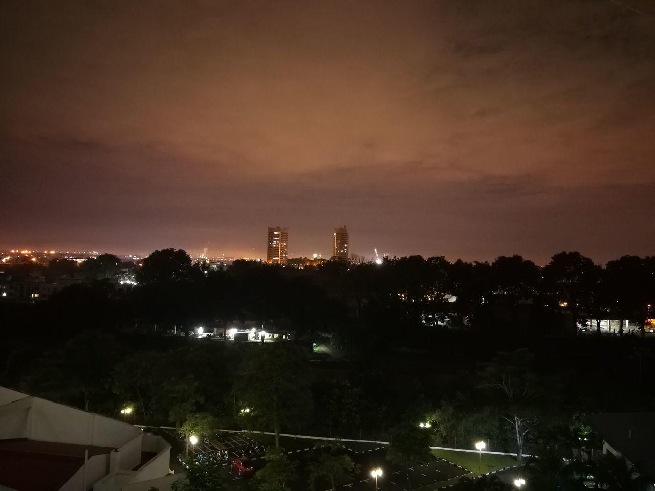 Night view 2/1 at Malaysia Johor Bahru. Johor Bahru Seri Alam Nightview Malaysia
