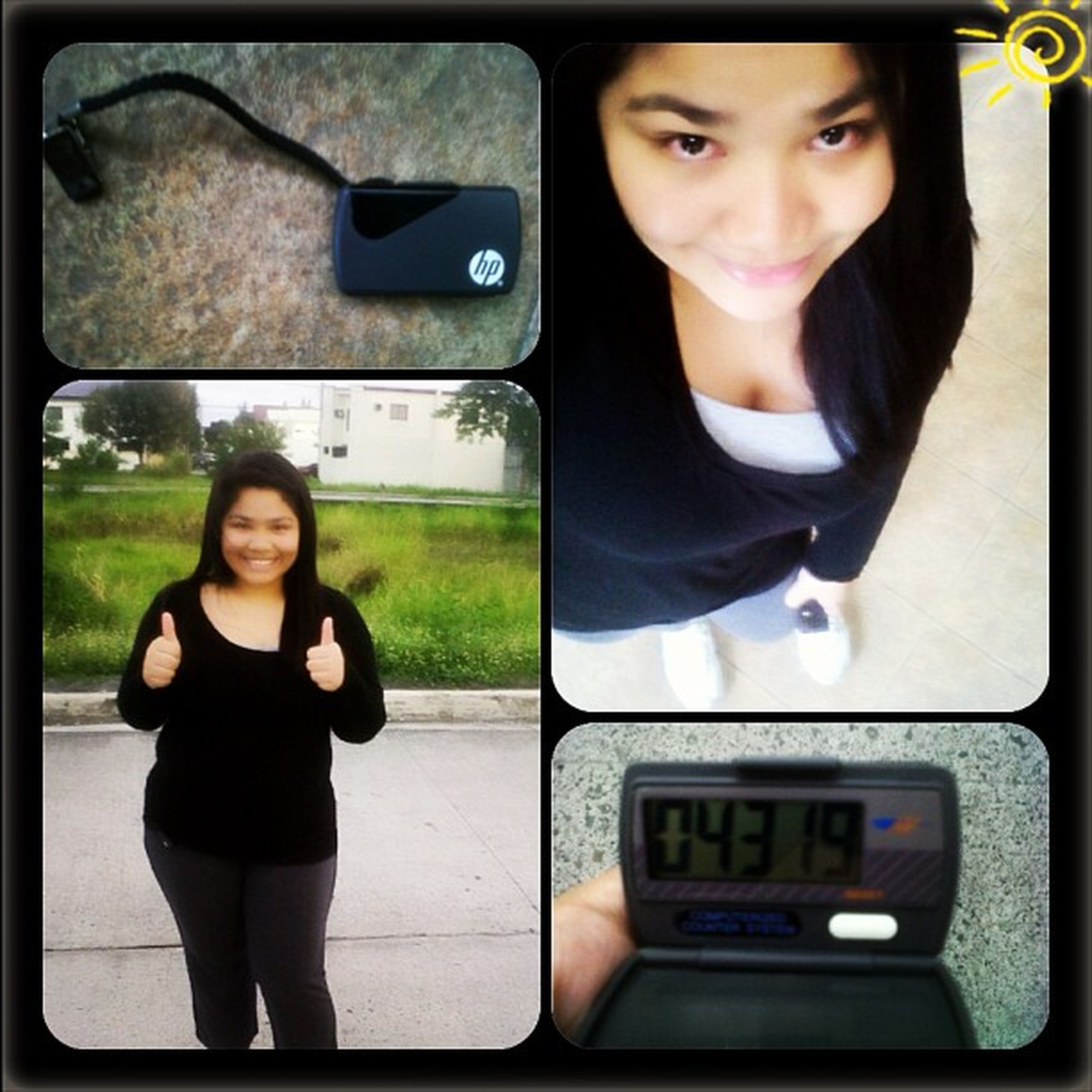 Afternoon jog. Used Ate Candy's pedometer. Yaay to 4319 steps in an hour (kulang parin). ???Jogging Healthyliving Nopainnogain Projectupgrade