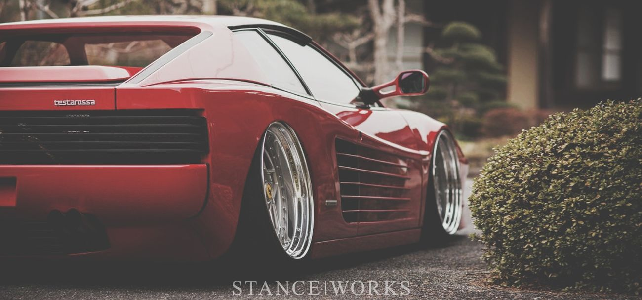 Red Car Outdoors No People Day Low Tide Stance Wheels Stanceworks Dropped Driving Auto Racing Stancenation Beach Cars Speed Sports Race Red Beauty Racecar Nature Sky Clear Sky City Retro Styled