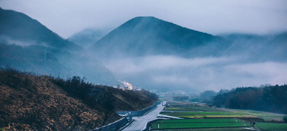 Beauty In Nature Blue Cloud Cloud - Sky Day Japan Landscape Mountain Mountain Range Nature No People Outdoors Road Road Scenics Shikoku Sky The Following Tranquility Travel Traveling Weather