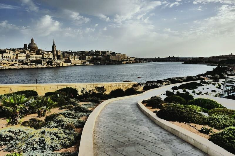 Travel Destinations City Cityscape Architecture Water No People Outdoors Path Harbour Grand Harbour Valetta Malta Sunset Afternoon Walk Stone Old City History Historical Building EyeEmNewHere.