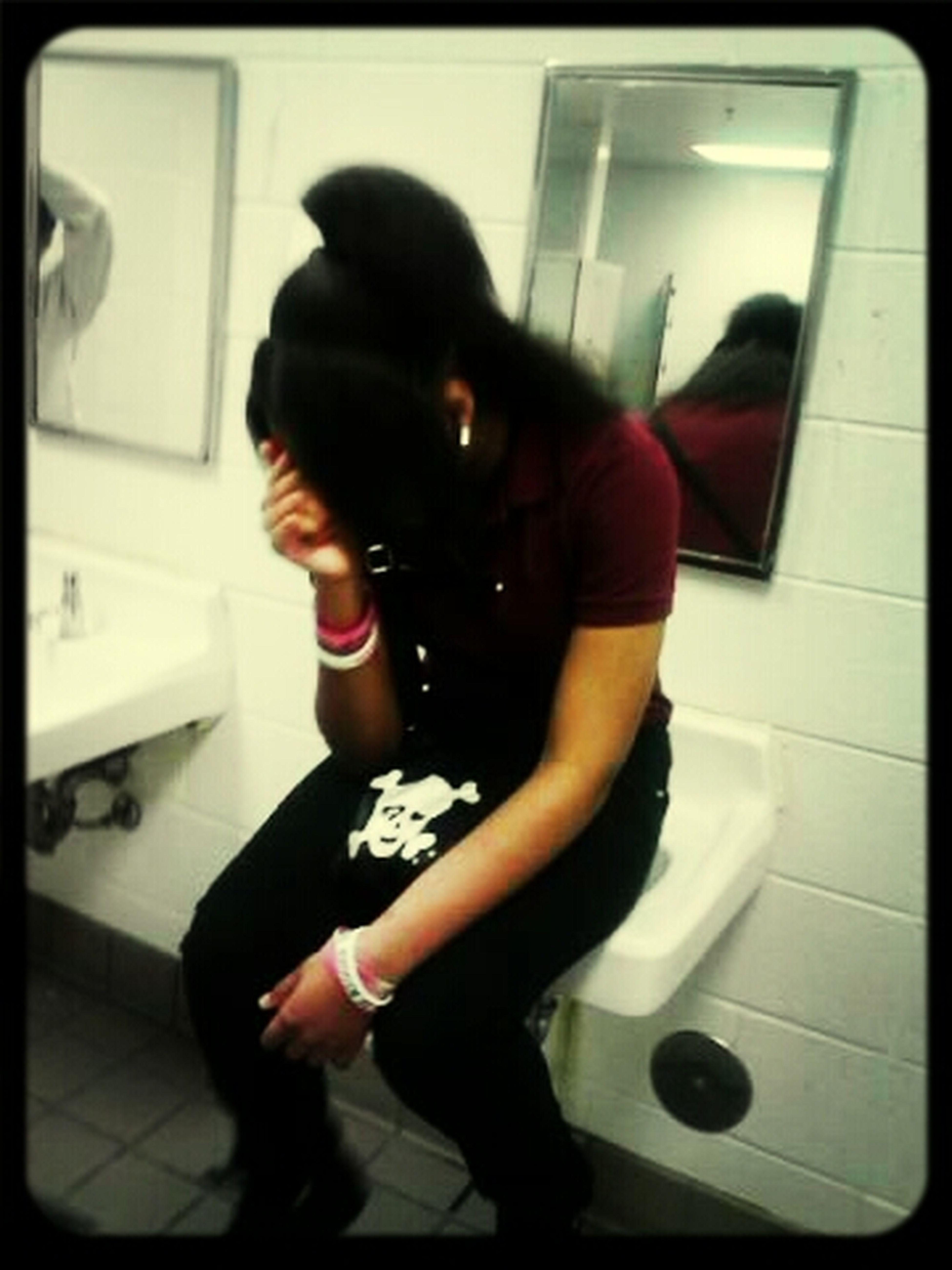 In The Bathroom Actin A Fool