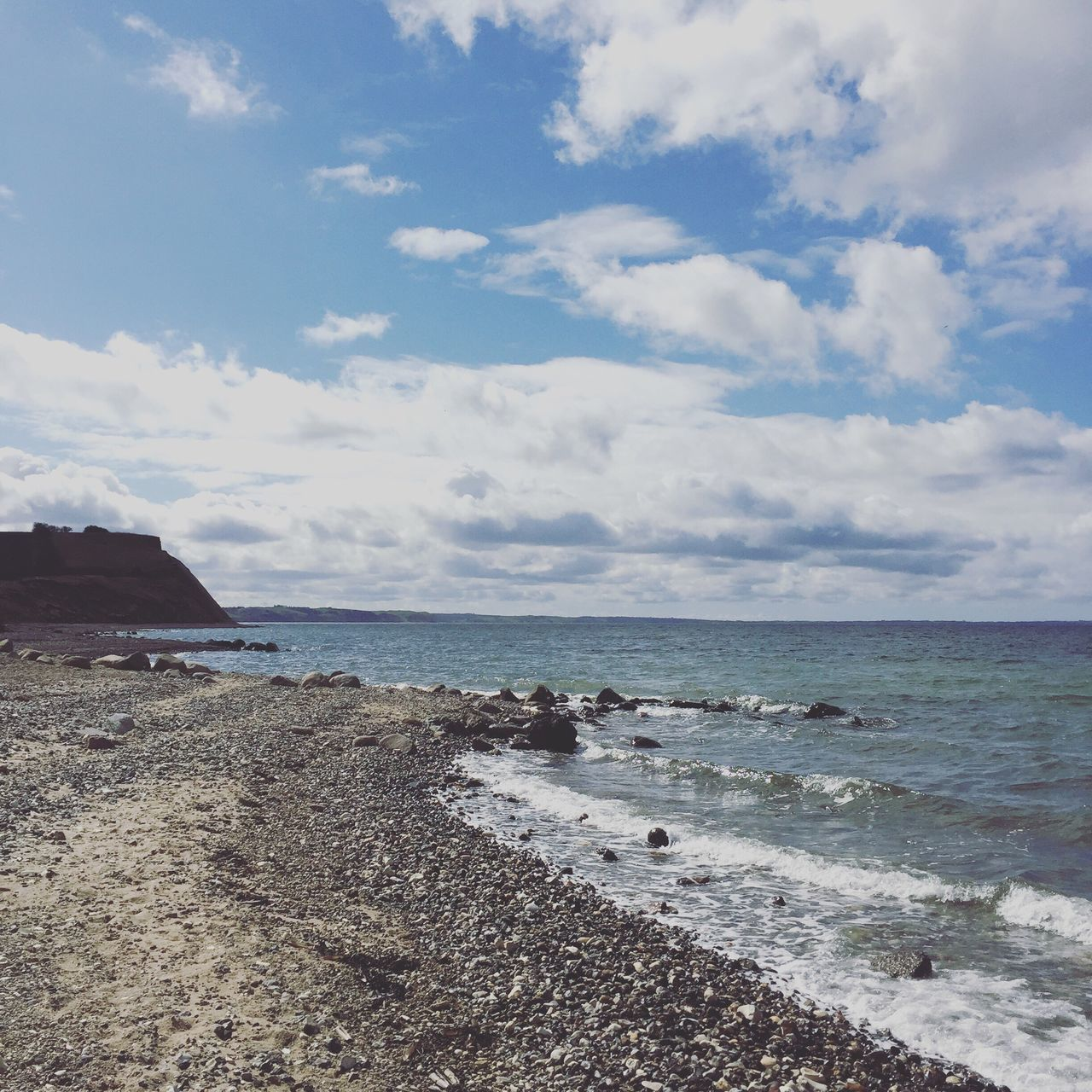 sea, sky, water, beach, horizon over water, nature, scenics, beauty in nature, tranquility, outdoors, cloud - sky, no people, day, wave