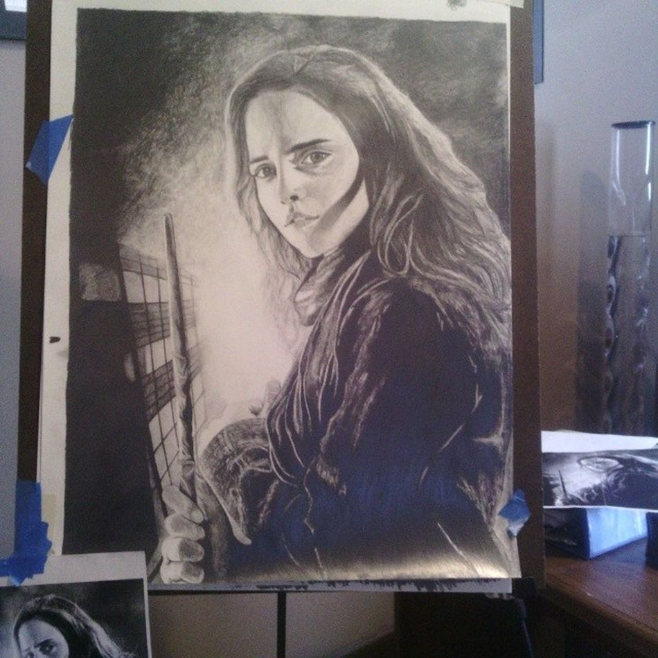 Shes finally done !!!!! Woo!!! Art1 Todayinart Hermione