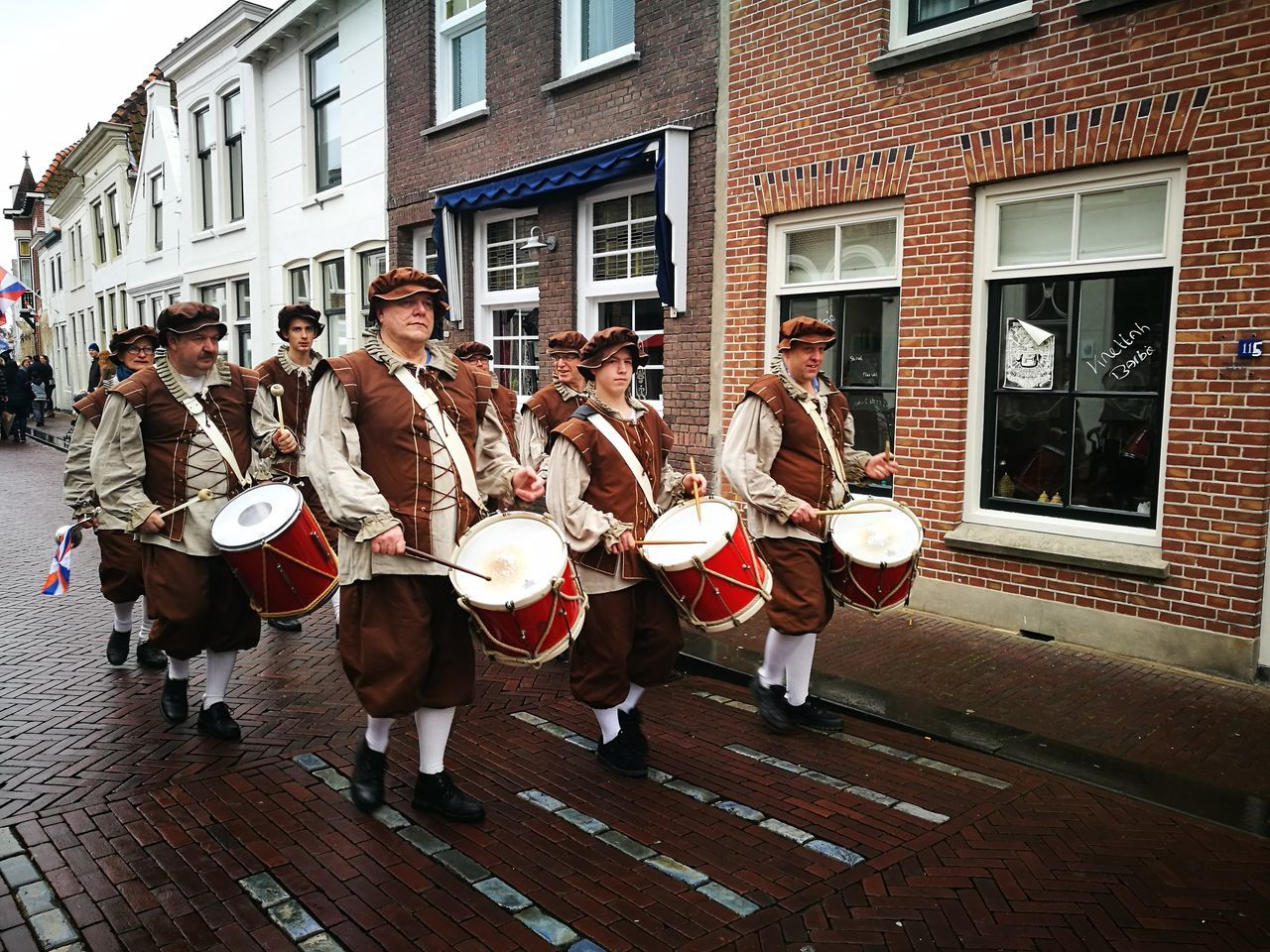 Music Musical Instrument Musician Adult People Playing Old-fashioned Celebration Event History Dutch Brielle Tourism Performance Happiness Celebration Event Drumming On The Streets Drumming Drums
