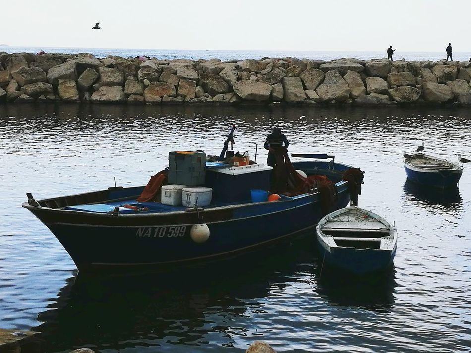 Napoli ❤ Sea Water Nautical Vessel Sea Life Naples Bay Barca Da Pesca Pescatori Fisherman Resist The Secret Spaces