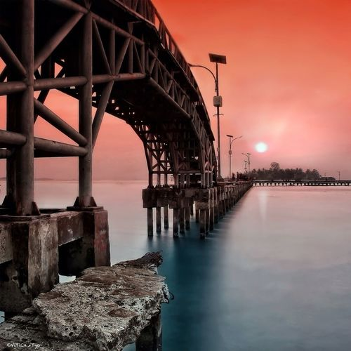 Sunrise at the Love Bridge