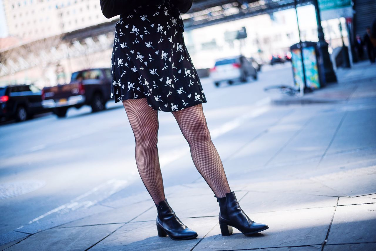 City Life One Person Human Leg City Outdoors Street Fashion Low Section Standing Real People Focus On Foreground Day Sidewalk Women Lifestyles Human Body Part One Woman Only Close-up Adult Young Adult Fashion Photography NYC Beautiful Woman Only Women Clothing