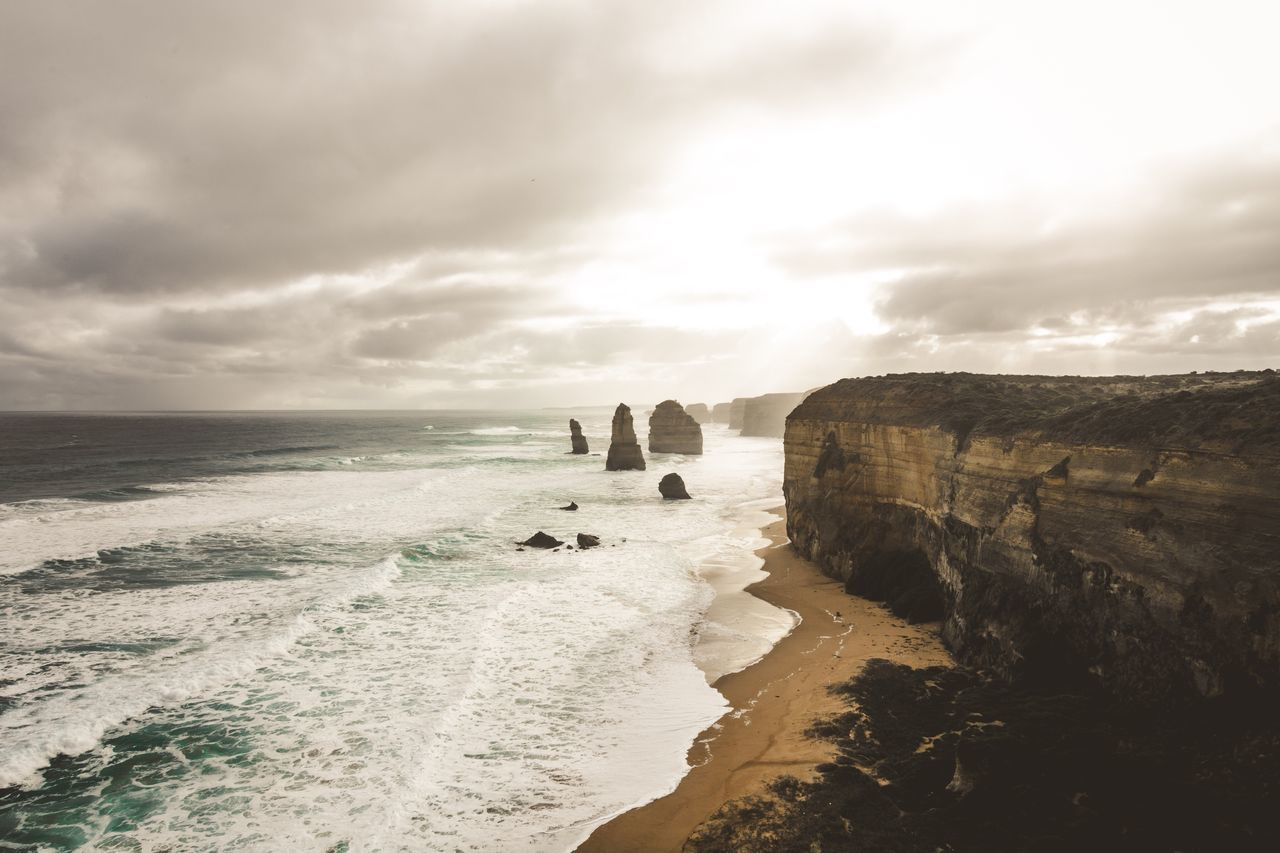edge of desire Sea Tranquil Scene Scenics Water Tranquility Beauty In Nature Travel Destinations Rock Formation Sky Horizon Over Water Nature Tourism Majestic Cliff Australia Life Nikon Vscophile VSCO Vscogood Cloud - Sky Skies