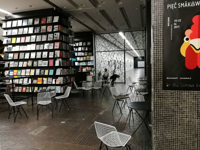 Letstravel Look Around  Warsaw Architecture Bookstore BookOff Books chairs moderninterior Travel Destinations Interesting Place Interesting Places