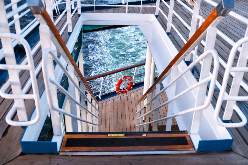 Boat Deck Day High Angle View Nautical Vessel No People Outdoors Swimming Pool Water