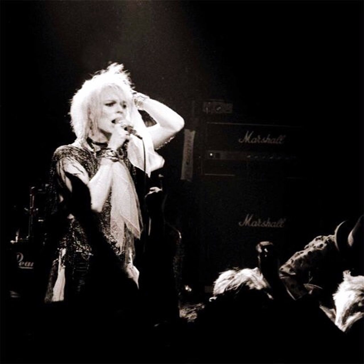 Mike Monroe Hanoi Rocks Ritz Bådde Bobadly Rock N Roll Black And White