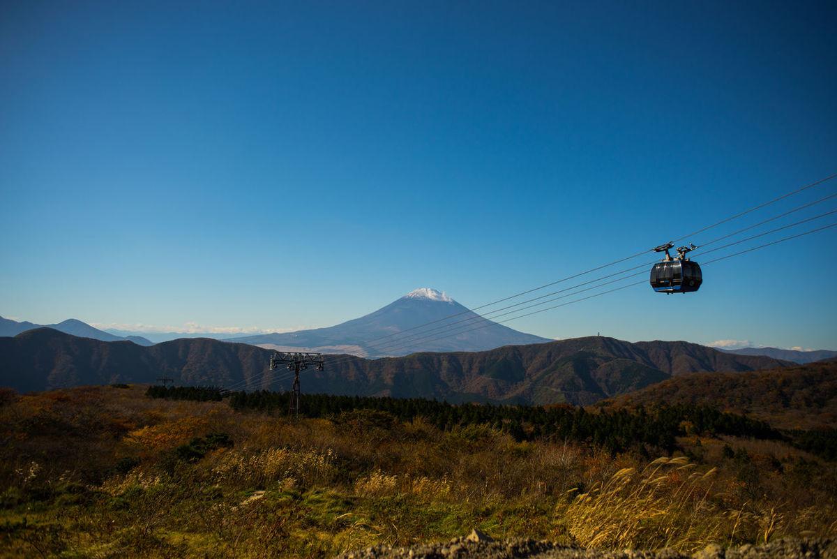 Mt Fuji Mtfujisan Cable Car Bluesky Hagone Landscape Land Mark