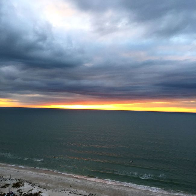 Ocean View Sea And Sky Sunset Clearwaterbeach
