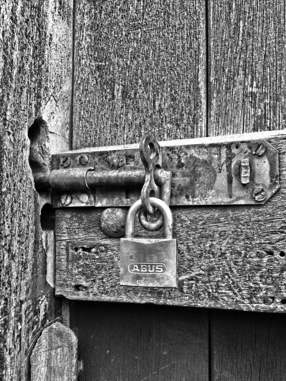 Locked gate Lock Gate Wood Wooden Door Fasten Fastening Locked Security Secure