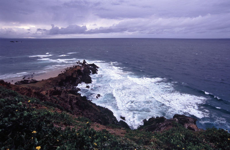 most easterly point of the Australian mainland, Cape Byron. Aussie Australia Australian Byron Bay Cape Byron East Easterly Eastern Horizon Over Water Point Rock Rock Formation Scenics Sea Surf Water Wave