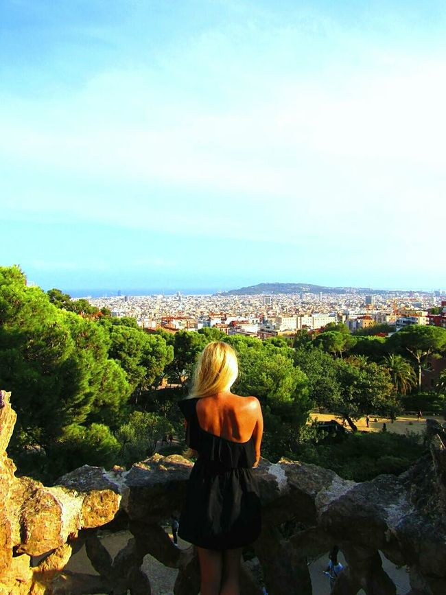 Hello World Hellocity Above The City Amazingview That's Me Taking Photos Barcelona SPAIN Parkguell Beautiful View Beauty In Nature Eyeemphotography Eyeemcollection Parkphotography Todayphotography From My Point Of View Landscapephotography Women Who Inspire You Hungariangirl My Favorite Place People And Places