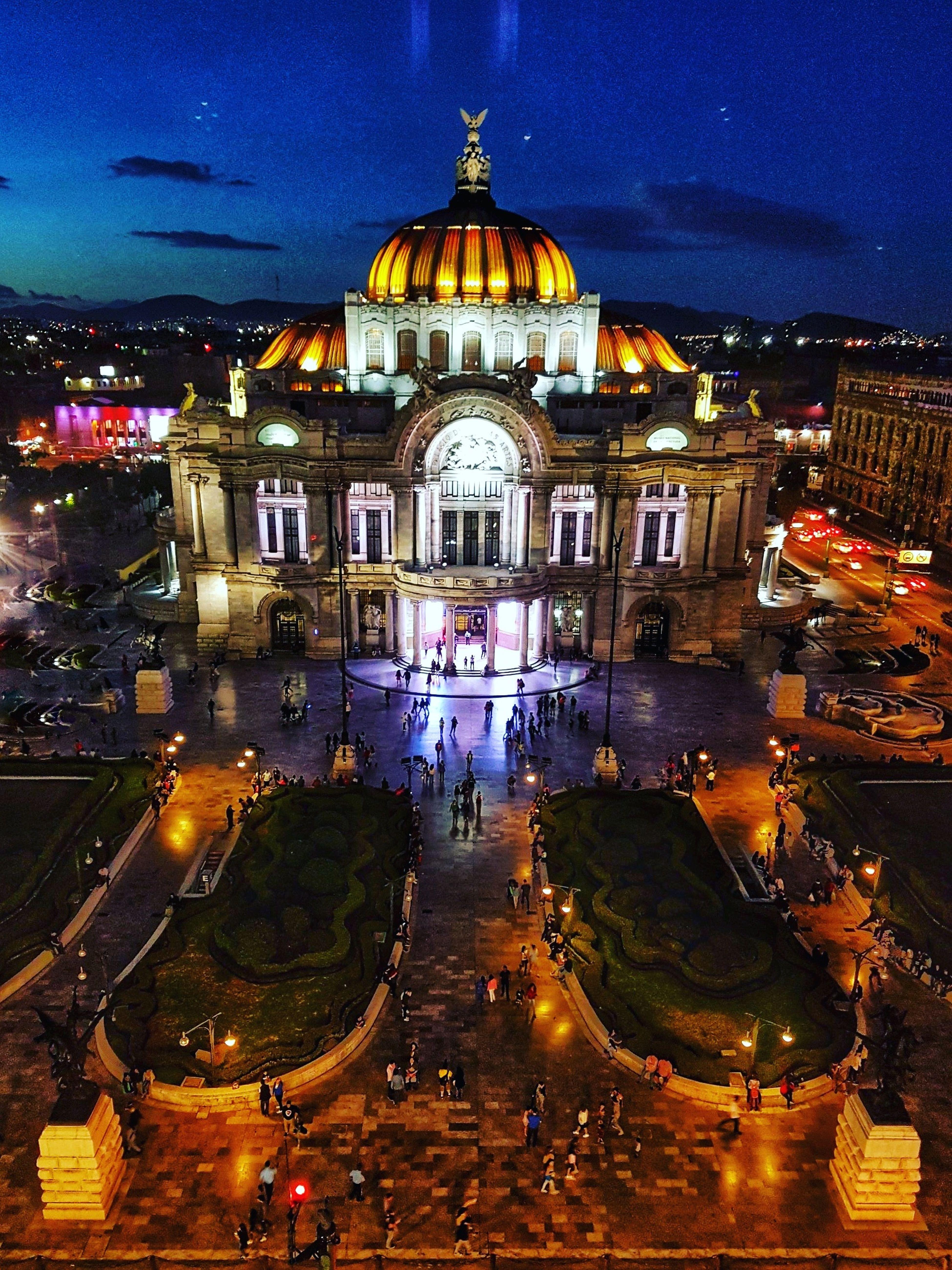 Night Car Illuminated Outdoors City No People Building Exterior Architecture Close-up CDMX ❤ Bellas Artes, México D.F. Architecture